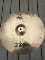 "Free P&P. Cracked! Zildjian Z Custom 16"" Crash Cymbal."