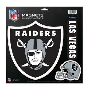 """LAS VEGAS RAIDERS 3 PACK DIE-CUT VINYL MAGNETS 11""""X11"""" NFL LICENSED HIGH QUALITY"""
