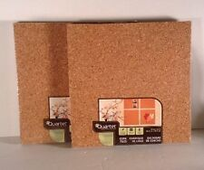 Quartet Cork Tiles, Natural, 12 Inch x 12 Inch, Frameless, 4 Pack, New