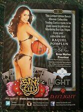 Playboy Benchwarmer Raquel Pomplun Sin City Promo Card