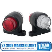 2X 8 LED ELBOW SIDE MARKER LIGHTS RUBBER LAMP OUTLINE TRAILER TRUCK VAN LORRY AU