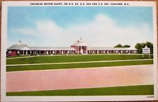 Concord, NC 1954 Linen Postcard: Colonial Motor Court - North Carolina