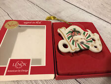 Lenox Furry Christmas Dog Frame Ornament with Magnet On Back New in Box