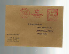 1940 Berlin Germany Reichsfuhrer SS Meter Cover to Hasag Werke Gruppenfuhrer