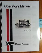 Massey Ferguson MF 730 Dozer Blade for MF 7 MF 8 Lawn Tractor Operator Manual 74