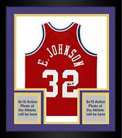 Frmd Magic Johnson LA Lakers Signed Red M&N 1988 All-Star Game Authentic Jersey