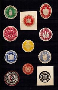 4101/ Lot Siegelmarken – kreuz und quer durch Ämter und Firmen – siehe scan