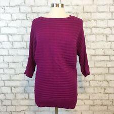 Ann Taylor Factory Women's Mauve Pink Ribbed Longsleeve Sweater Size Medium