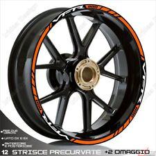 Trims Wheel Stickers Sport Honda VFR 750 800 1200 White Orange