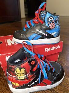 Reebok Marvel High Tops Toddler Size 5