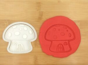 Mushroom House Fairy Cartoon Cookie Cutter Stamp  Fondant Cake Biscuit Mould