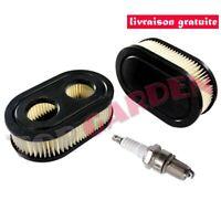 2x Filtre à air 798452 + Bougie pour Briggs & Stratton 550E 550EX Eco-Plus 575EX