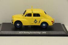 RENAULT 4CV TOURING SECOURS BELGE 1958 ELIGOR 1/43 NEUF EN BOITE POUR ALTAYA