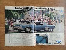1973 Chevrolet Impala Custom Coupe Ad  Parade at Stockbridge Massachusetts