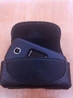 Flip Phone Small Leather Holster/ Case with Belt Loop & Clip For Verizon Gusto 3