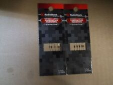 RADIO SHACK  2710009 (lot-of-2)CARBON RESISTERS 470-OHM 1/8 WATT