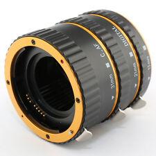 Gold Auto Focus Macro Extension Tube Set for Canon EOS EF-S mount 5DS 70D 750D