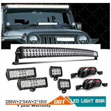 "50""inch LED Work Light Bar Combo For Truck Offroad 4WD SUV UTV Boat Driving 52"""
