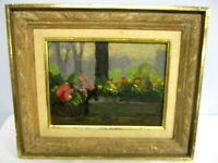 ORIGINAL SIGNED RICHARD STALTER OIL ON BOARD PAINTING OF FLOWERS