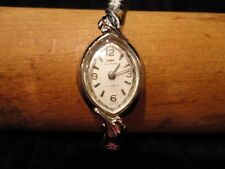 Waltham Ladies Wrist Watch, Silver Tone 17 Jewel Swiss Wind Up Vintage