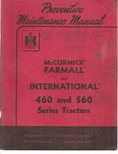 International 460,560,660 Series Tractors Operator's Manual