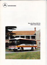 1987 MERCEDES BENZ OH 1316 MIDI-COACH CHASSIS Australian 4 Page Brochure