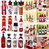 Christmas Santa Claus Wine Bottle Cover Gift Bag Table Home Party Decor BEST