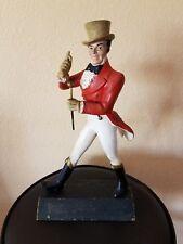 """Johnnie Walker Walking Man 15"""" Statue Figurine Vintage Advertising Barware Wood"""