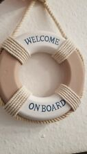 Rettungsring Deko maritim Welcome on Board Deko-Rettungsring Hänger Wanddeko