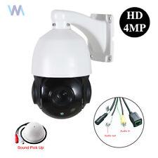 "30X Optical Zoom 4"" Size 4MP IP PTZ Dome Camera SONY CMOS Onvif IR Support Audio"