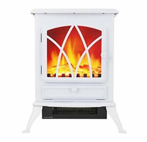 Warmlite WL46018W 2 KW Compact Electric Freestanding Stove Fire with Realistic