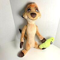 "Disney Store The Lion King Guard TIMON Meerkat 11"" Plush Toy Doll Holding A Bug"