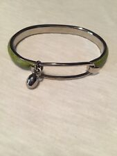 Madani Firenze Italian Green Leather Bracelet Bangle Handmade Florence Silver