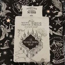 Harry Potter Duvet Cover Set Pillow Single Marauder's Map Grey Reversible