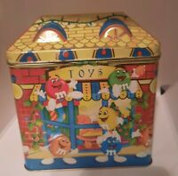 Vintage 1996 M&M's Limited Edition Christmas Village Candy Tin Toy Shop