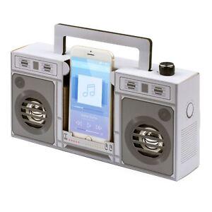 Retro Touch Boombox Speaker Wireless Smartphone Amplifier