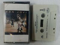 """1984 Bon Jovi """"Bon Jovi"""" Audio Cassette Tape  PolyGram Records Classic Rock"""