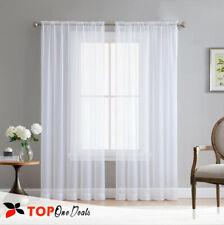 Pair (2 Panels) Voile Slot Top Panels Quality Net & Voile Curtains *All Colours*