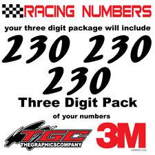 Racing Numbers Vinyl Decals Stickers boat car BMX bike off road sprint quad orng