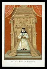 antico santino cromo-holy card S.CATERINA DA BOLOGNA