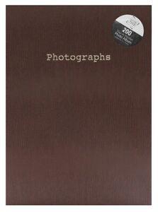 """7"""" x 5"""" - 200 Pockets Slip-in Snake Skin Print Design Photo Album - Brown"""