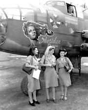 "ANN SHERIDAN NEXT TO B-25J AIRCRAFT NAMED ""SHERIDAN EXPRESS""  8X10 PHOTO (DA883)"