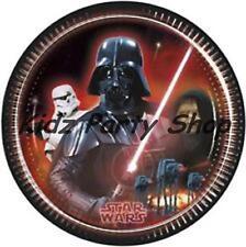 8 Plates Paper Star Wars - Trooper Darth Vador Dark Sidious 23cm