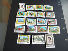 DOMINICA  1969 SG 272A-290 DEFINITIVES FULL SET MNH