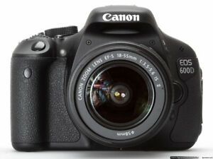 Canon EOS 600D 18.0 MP Digital SLR Camera -  Kit with EF-S 18-55mm IS II LENS+$$