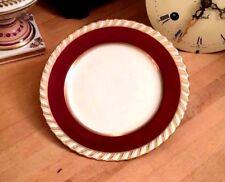 Franconia Krautheim CARDINAL Bread Plate w/ Gold Trim Bavaria Germany Red White