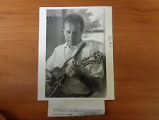 Vintage Glossy Press Photo Musician Terence O'Shea An Irish Banjo Player