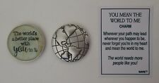 m World is better with YOU MEAN THE WORLD TO ME Pocket token charm globe ganz