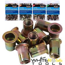 BlueSpot Rivet Nut Carbon Steel M6 M8 M10 M12 Rivnut Threaded Insert Packs