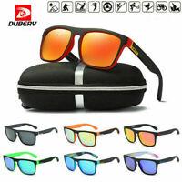 DUBERY Men Women Sports Polarized Cycling Sunglasses Square Driving Goggles